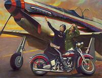 David Uhl a Harley-Davidson hivatalos művésze