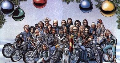 christmas biker