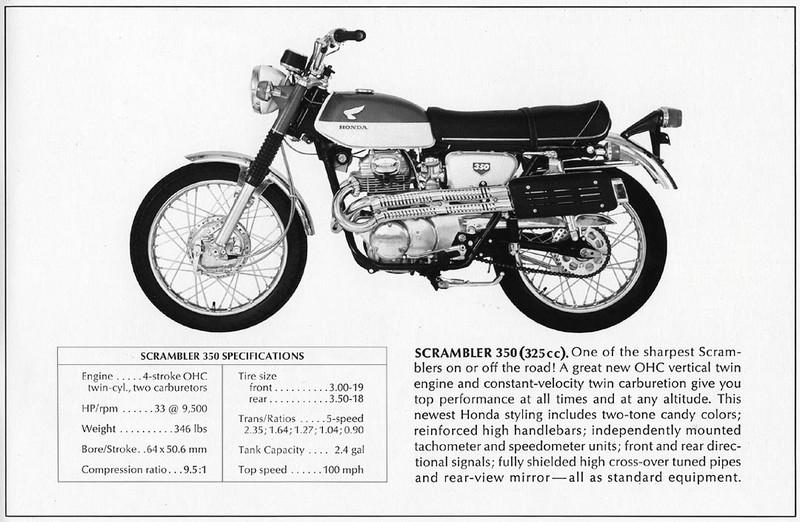 Honda CB350 Scrambler A tetováltlány
