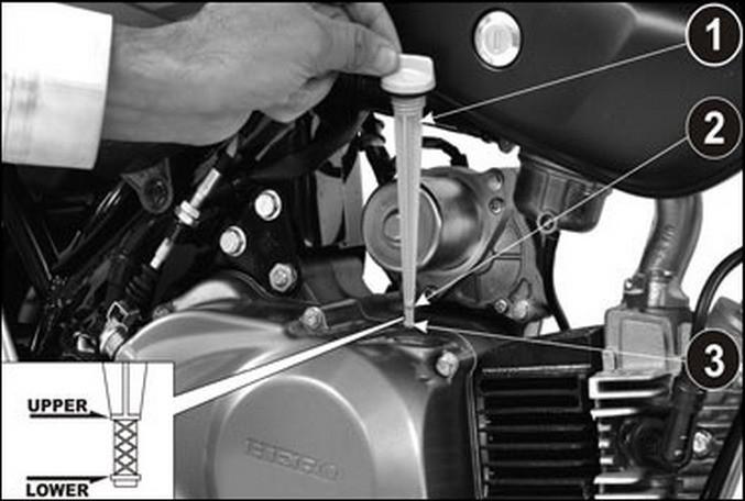 motorolajszint ellenorzes