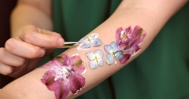 real flowers tattoo