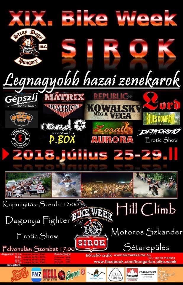sirok bike week plakat