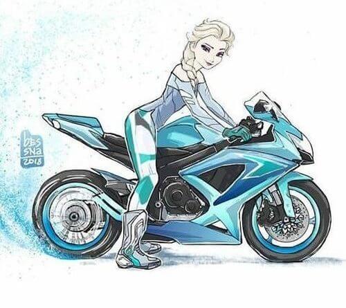 Disney hercegnők motoron