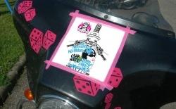 Női motoros nap logo