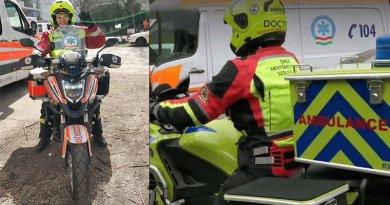 Taracközi Anita motoros mentőtiszt