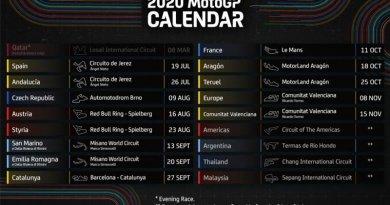 Moto GP 2020 versenynaptár