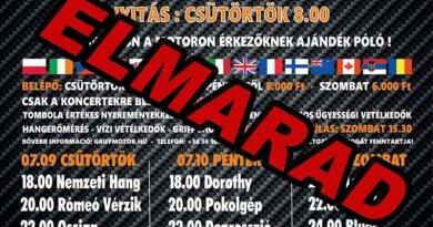Griff MC motoros találkozó Tiszaföldvár 2020