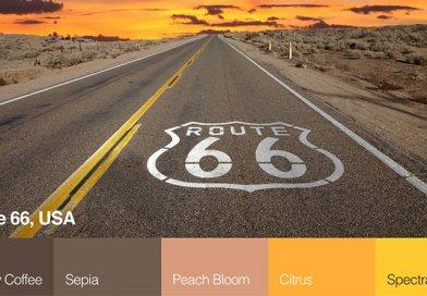 Route 66 színpaletta