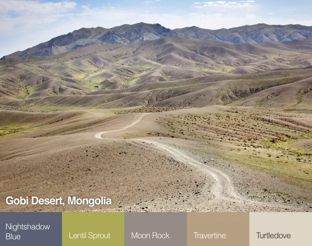 Góbi sivatag, Mongólia színpaletta