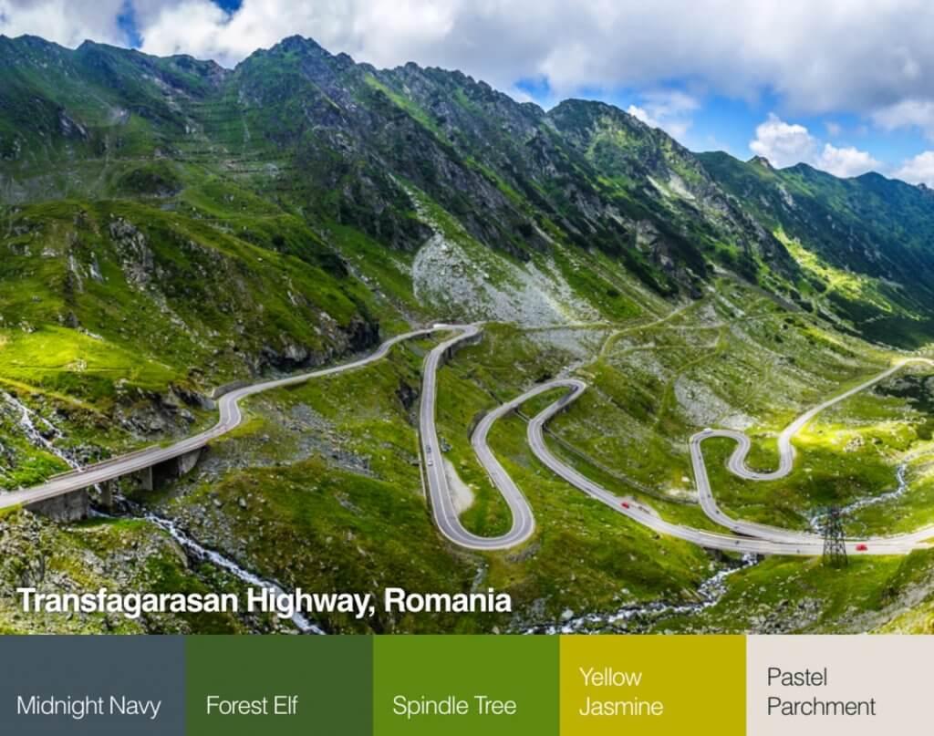 Transzfogaras országút, Románia színpaletta