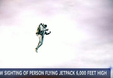 Ismeretlen repülő ember jetpack-kel