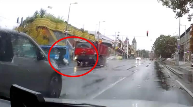 Robogós baleset