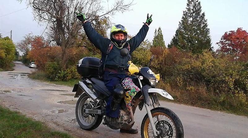 Bátai Aranka motoros futár