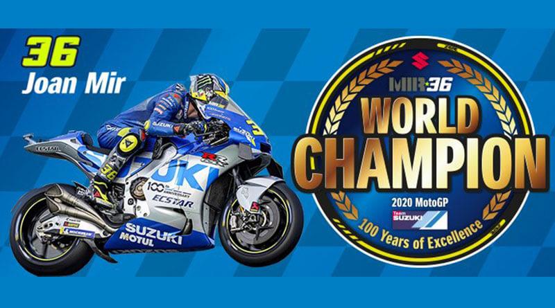 Joan Mir MotoGP világbajnok 2020