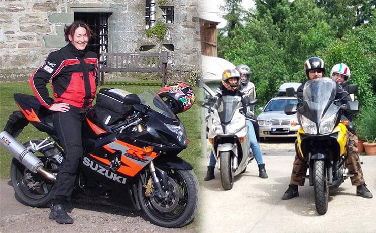Családi motorozás Bögös Kata