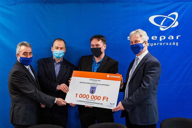 Ledvance Magyar mentőmotor Alapítvány támogatás