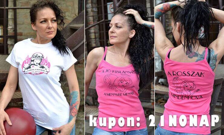CsamShop nőnapi kuponakció Csajok a motoron női motoros póló