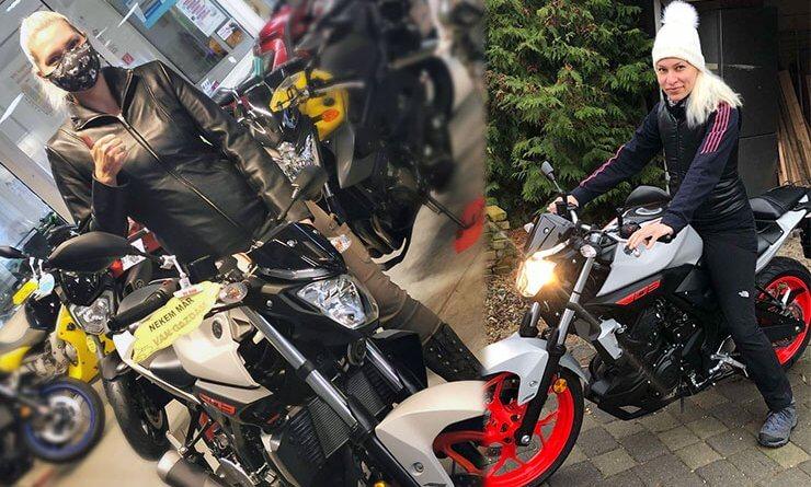Forrai Marianna motorozás