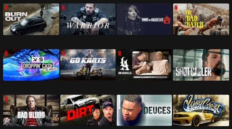Motoros filmek a Netflixen 2021-ben
