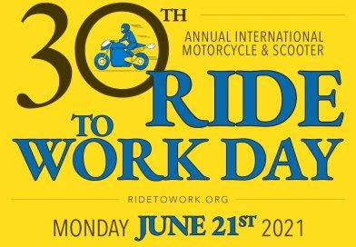 30. Ride to work day - motorozz munkába nap 2021