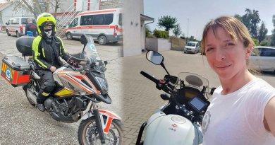Magda Krisztina mentőmotoros lány