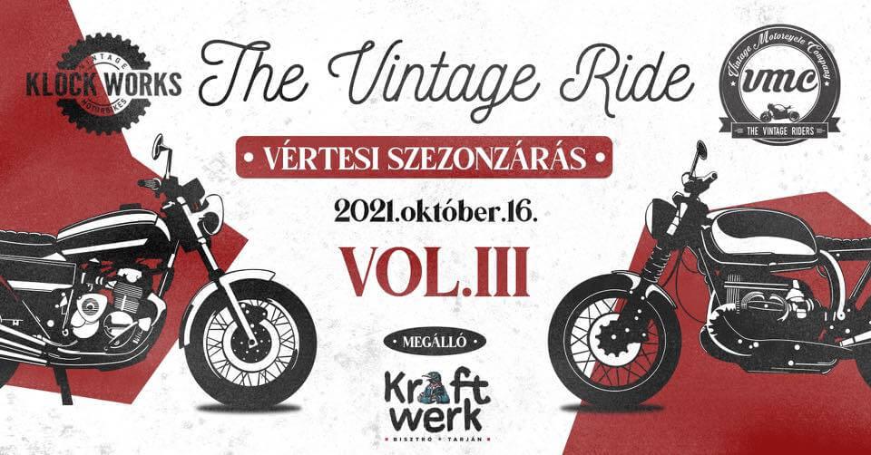 The Vintage Ride - Voll III. - Vértesi Szezonzárás